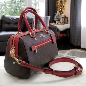 NEW! Coach Rowan Satchel in Signature Canvas